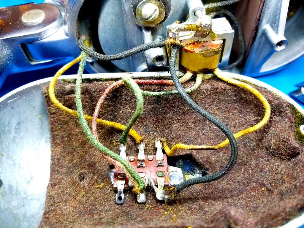 View of internal wiring.